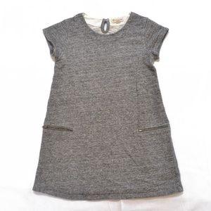 Tucker + Tate Girls Grey Terry Shirt Dress